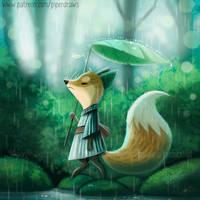 3047. Fox Rain - Illustration