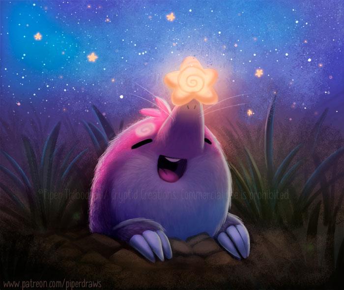 3052. Star-Nosed Mole - Illustration