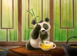 3055. Tea Panda - Illustration