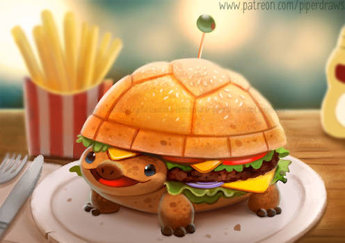 3058. Turtle Burger - Illustration