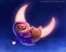 3063. Sloth Moon - Illustration