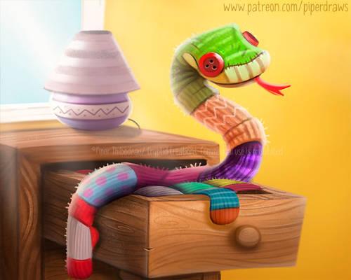3064. Sock Snake - Illustration