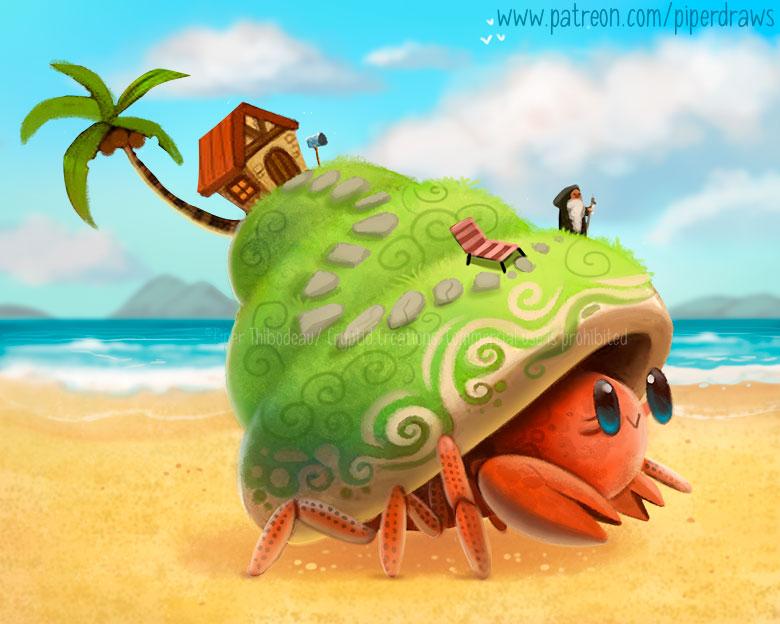 3065. Hermit's Crab - Illustration