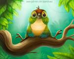 3066. Green Cheek Conure - Illustration