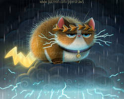 3067. Zeus Cat - Illustration
