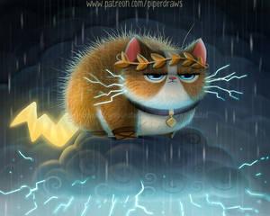 3067. Zeus Cat - Illustration