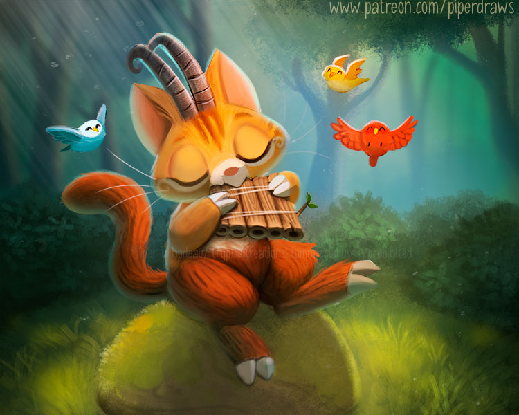 3069. Pan Cat - Illustration