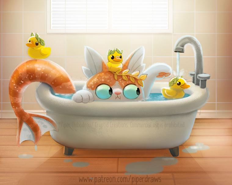 3070. Poseidon Cat - Illustration