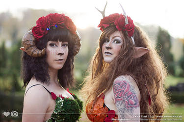 Faun Costume - Photoshoot with Zarsu. by SprinklesOnTopCos