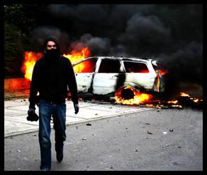 burned car by atut