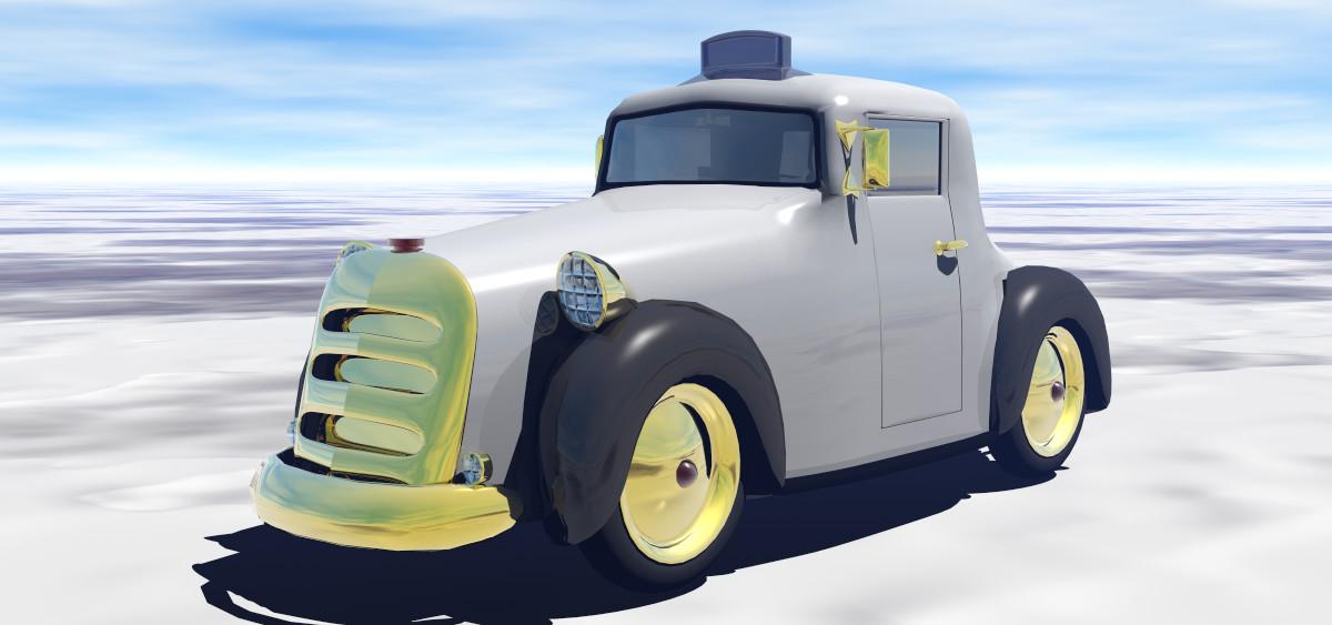 Odd White Cab by Noseneighbor