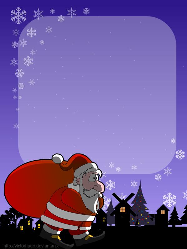 santa claus christmas card by victorhugo - Santa Claus Christmas Cards