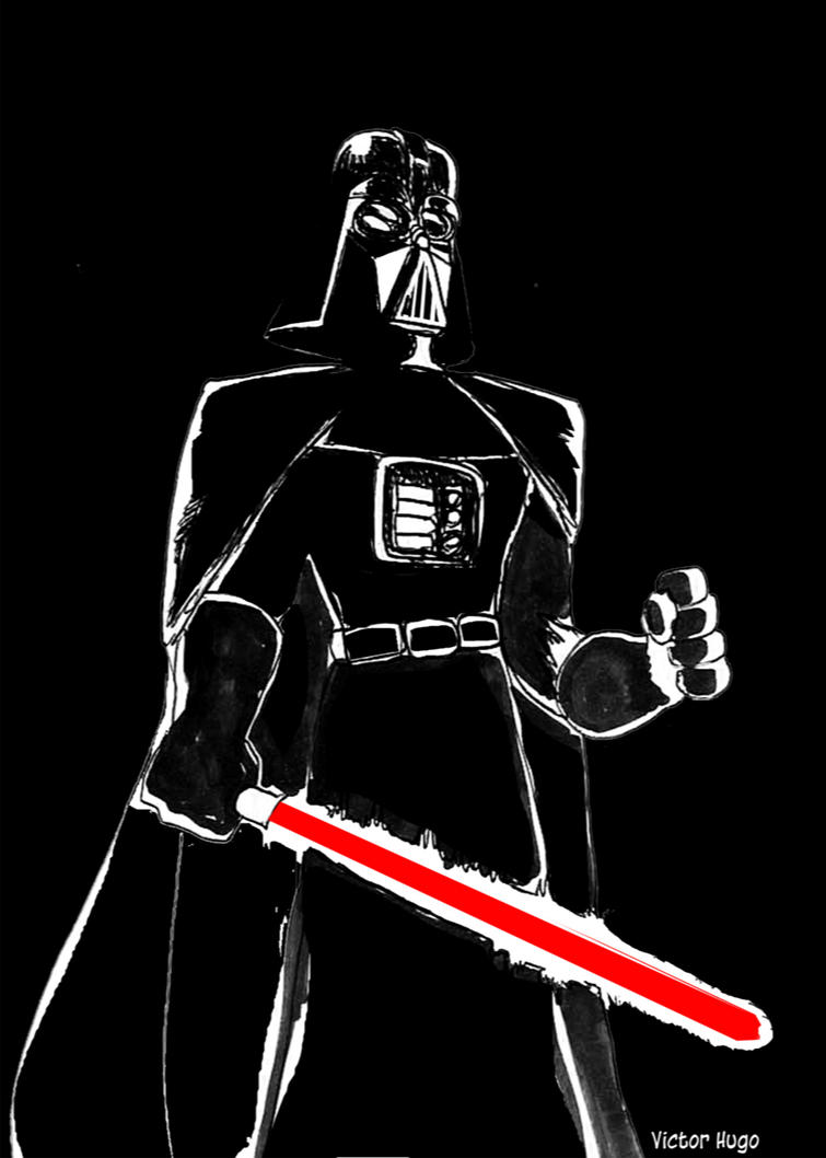 Darth Vader sketch by VictorHugo