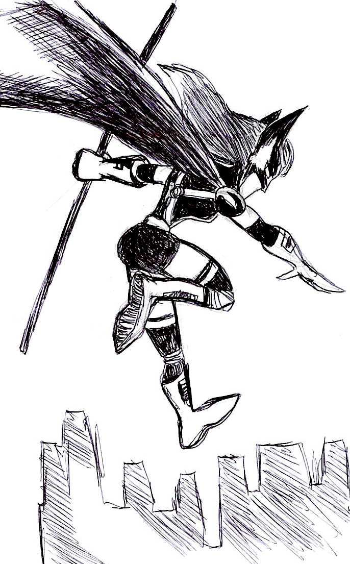 Huntress sketch by VictorHugo