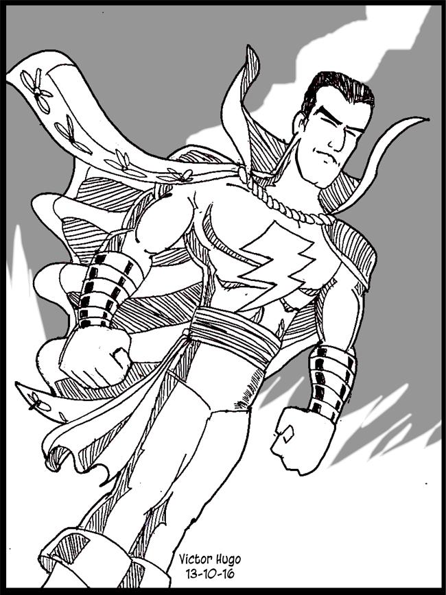 Captain Marvel sketch by VictorHugo