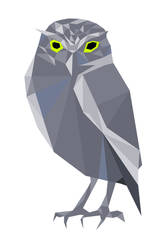 Owl made of polygons
