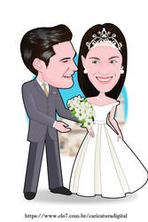 Wedding illustrations - caricatures