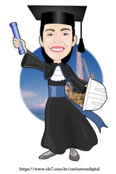 Caricature for Mechanical Engineering graduation