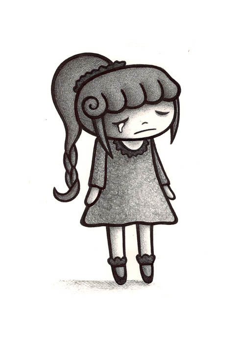 how to draw a girl that sad realalic