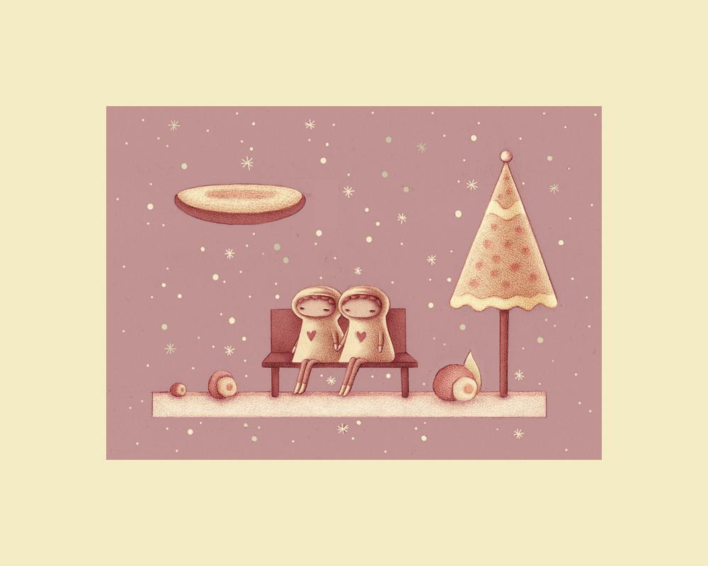Snow Couple by o0Amphigory0o