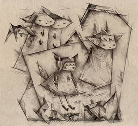 Hooded Animals by o0Amphigory0o