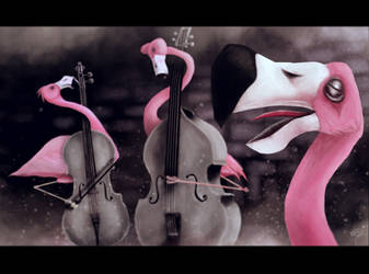 FlamingoVioloncell by BaBaShikoine