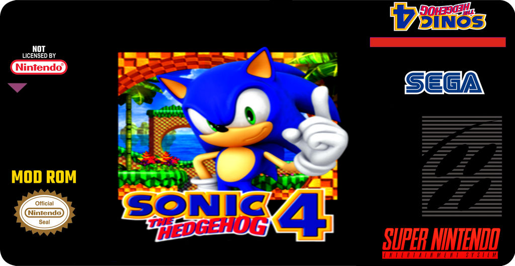 Sonic The Hedgehog 4 Hack Rom Label Snes By Superfernandoxt On Deviantart