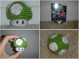 Crochet 1-Up Mario Mushroom