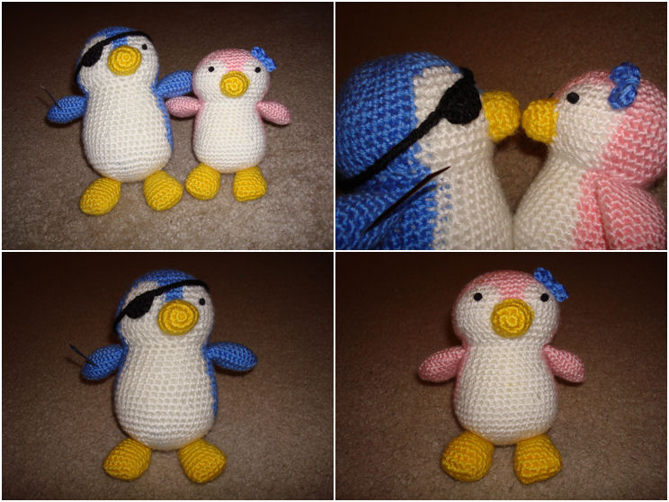 Crochet Penguin Plushies by katrivsor