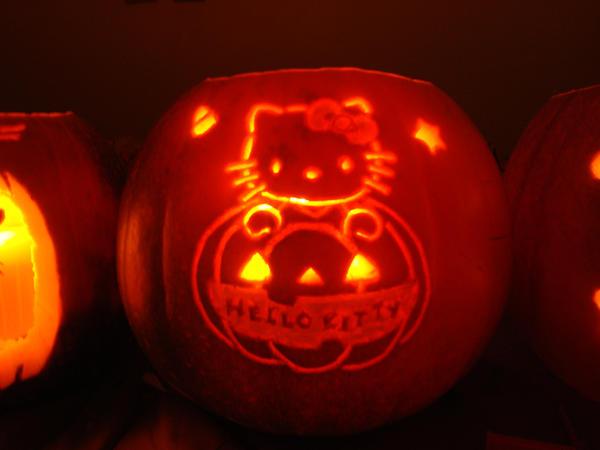 Hello kitty pumpkin carving 3 by katrivsor on deviantart