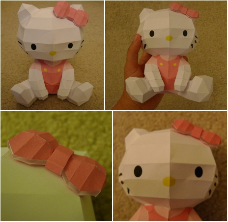 Hello kitty paper model by katrivsor on deviantart - Modele hello kitty ...