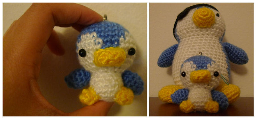 Crochet Patterns - PENGUIN WITH SCARF afghan pattern items in