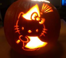 Hello Kitty Pumpkin 2010 by katrivsor