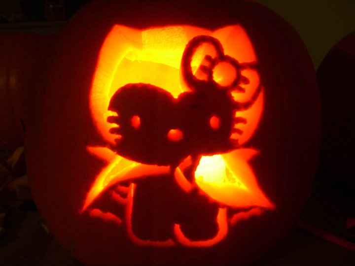 hello kitty pumpkin 2010 no 2 by katrivsor on deviantart