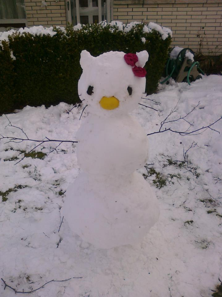 Hello kitty snowman by katrivsor on deviantart