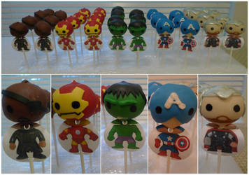 Avengers Oreo Truffle Pops by katrivsor