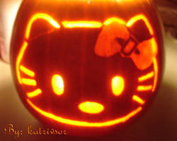 Hello Kitty Pumpkin Carving by katrivsor