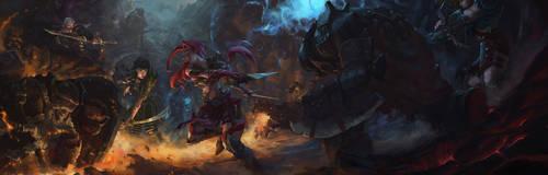 Battle of heroes by linweichen
