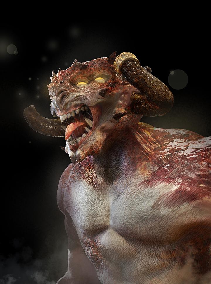 Demon head by linweichen