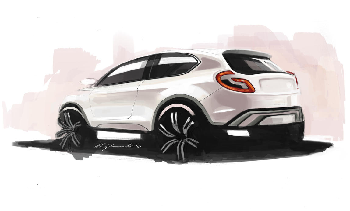Suv Sketch By On Deviantart
