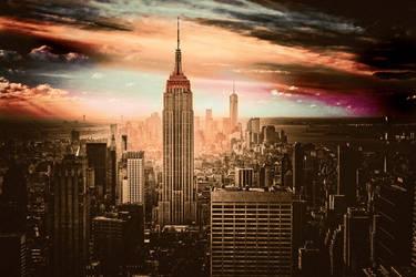 city black monochrome USA New York City cityscape-