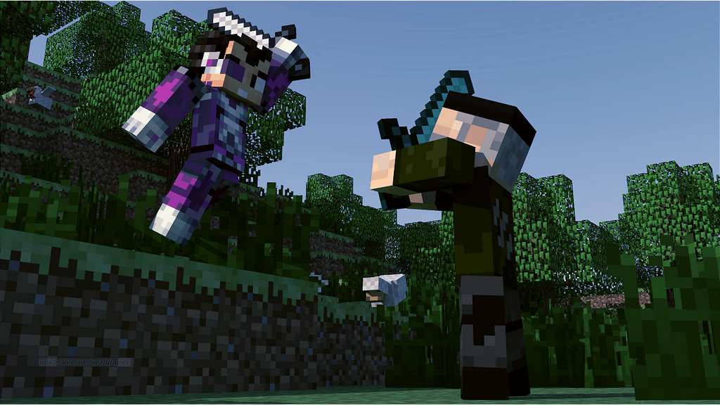 Vegetta Vs Willyrex By Zerotails On DeviantArt - Skin para minecraft willyrex