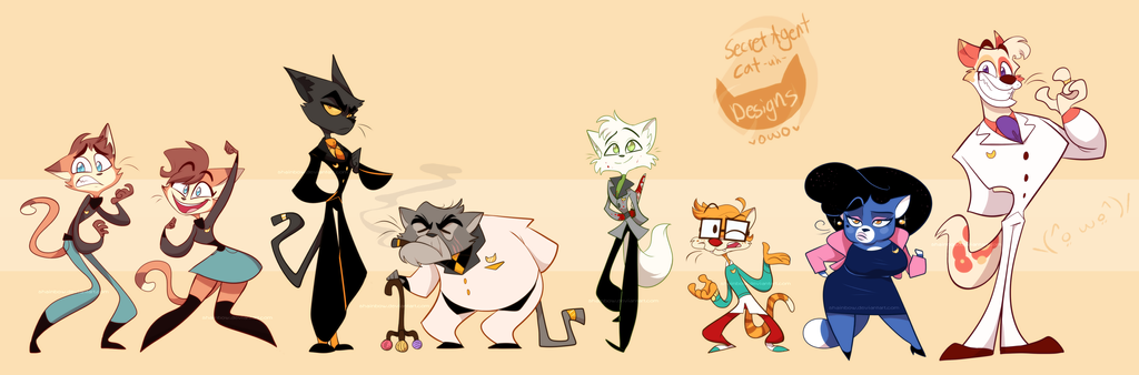 Secret Agent Kitties Galore by Shainbow