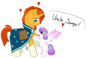 Uncle Sunny! by HalfWolfStudios