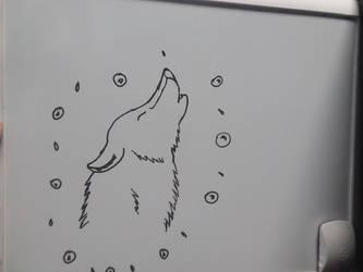 Howling on the board by Kamaji16