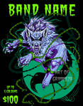 AVAILABLE SHIRT DESIGN: Fenrir by GrimmuzA