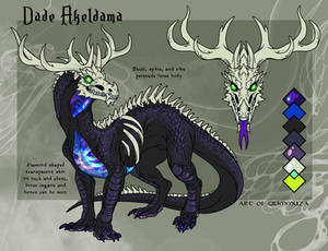 Ref Sheet for AzualTheDragon