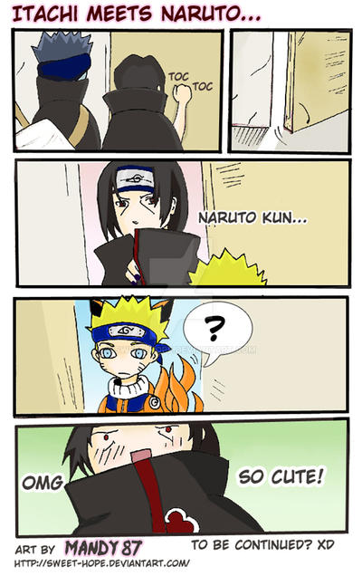Itachi meets Naruto... by Sweet-Hope