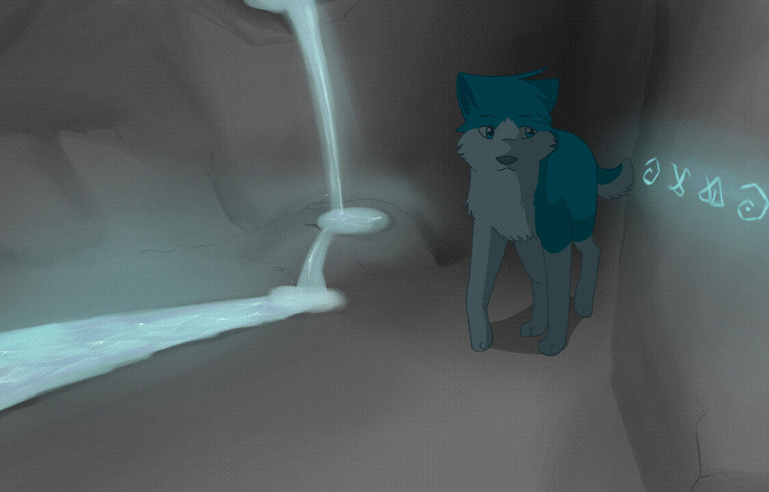 Walking through the Cave by Delihahal