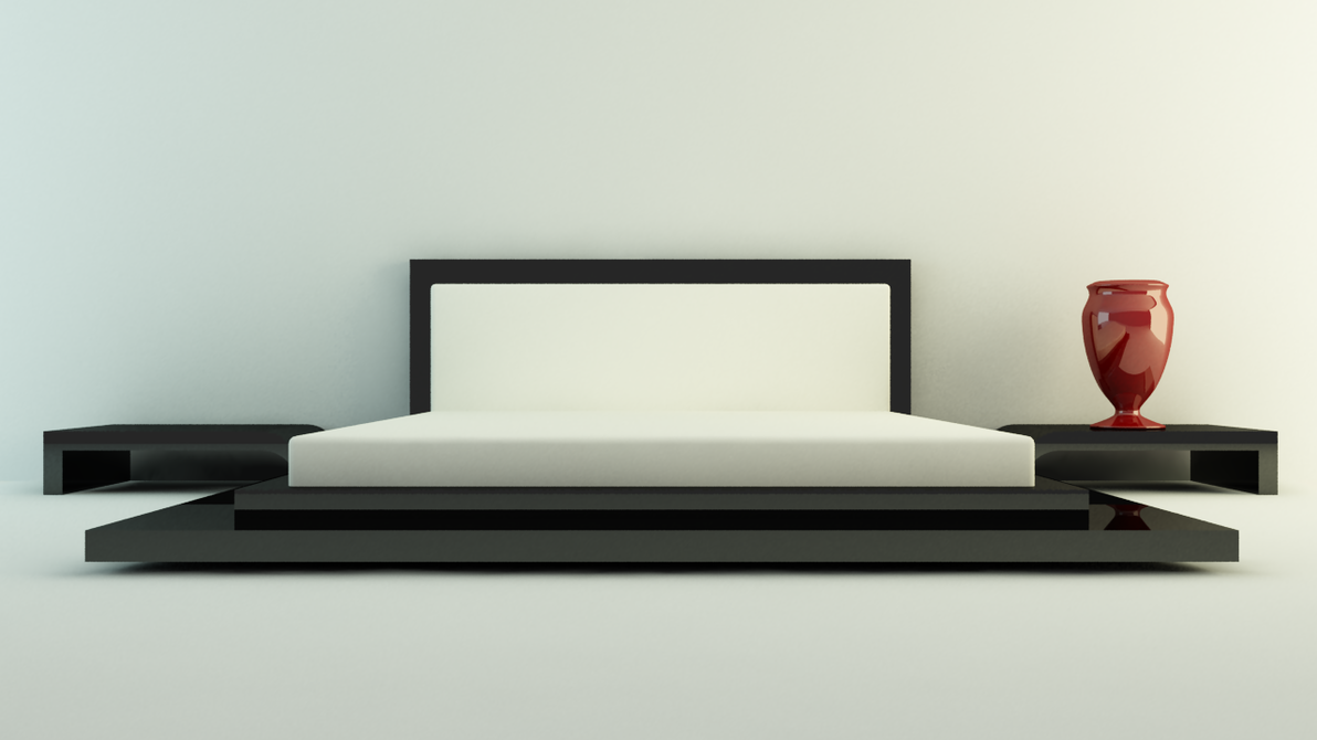Simple wooden double bed - Bed Design 01 By 3dsnoob On Deviantart